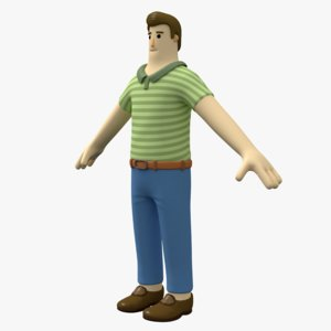 3D model man toon character