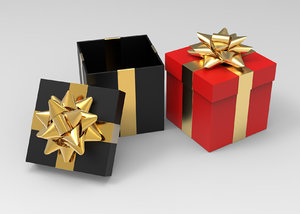 3D gift boxes 2 color