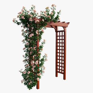 rose plant set 18 3D model