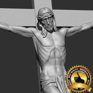 christ crucifixion jesus statue 3D model