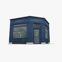 Photorealistic Corner Store Facade