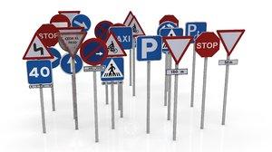 3D traffic signals model