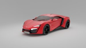 lykan hypersport 3D model