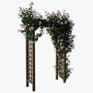 rose plant set 19 3D model