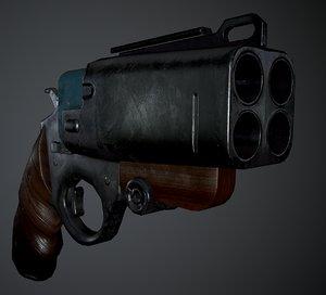 low-poly wasp gun pistol 3D