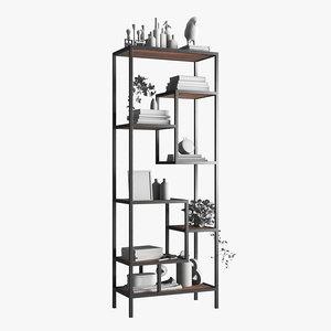 3D model helena book bookcase