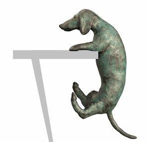 3D model dachshund decor