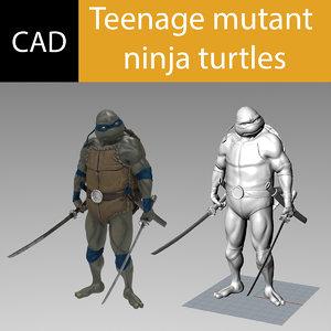 ninja turtles 3D model