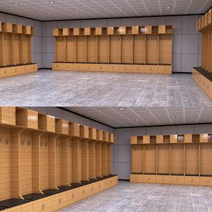 locker room 3D