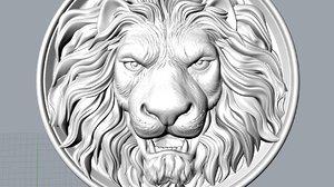 3D model lion decor stl
