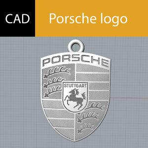 3D logo porsche stl