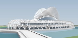 3D florida polytechnic university santiago calatrava