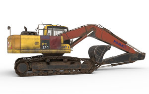 excavator 210 3D model