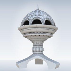 incense burner monument al 3D model
