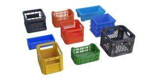 plastic crates pack 3D model