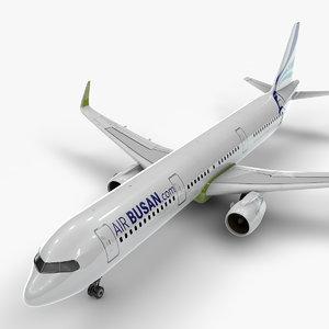 a321 neo air busan 3D model
