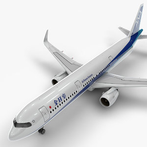 3D a321 neo nippon airways model