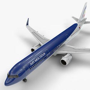 a321 neo air moldova 3D model