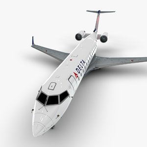connection bombardier crj 200 3D model