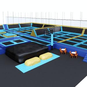 3D indoor trampolines