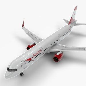 a321 neo austrian airlines 3D