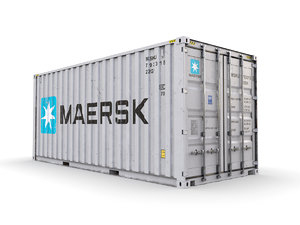 shipping container maersk 20 3D