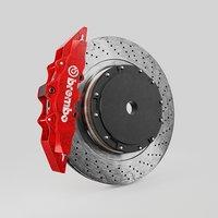 Brembo brake disc 3d model 3D model