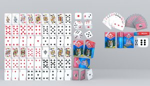 poker card dice mahjong 3D model