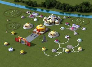 grasslands yurts tents camping model