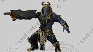 3D character human warrior