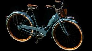 3D model vintage bicycle wheels