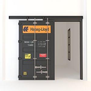 industrial container sliding doors 3D model