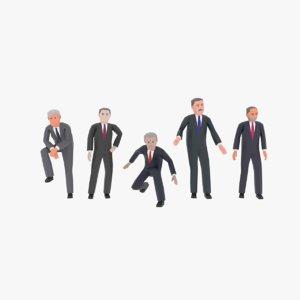 3D politicians model
