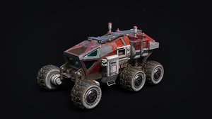space mars car vehicle 3D model