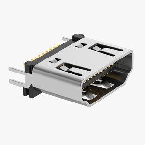 3D connectors electronics model