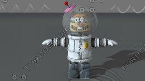 3D model cute robot