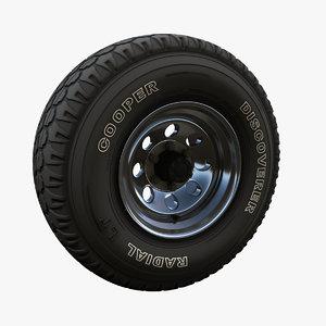 offroad wheel 3D
