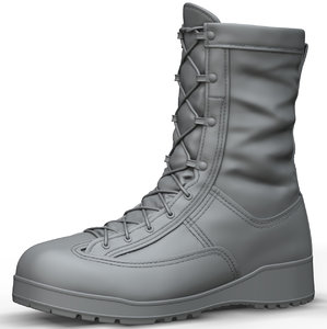 zbrush beleville 775 army boots 3D model
