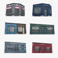 Photorealistic Store Facade Collection