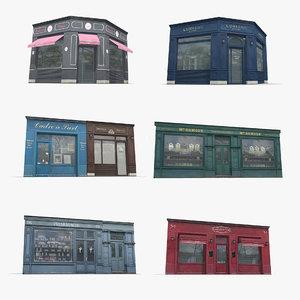 store facades 3D model