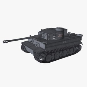 3D tiger 1 tank german model