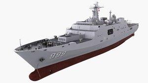 warship ship boat 3D model