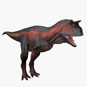 3D carnotaurus rigged