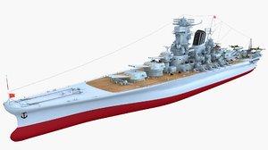 battleship yamato vessel model