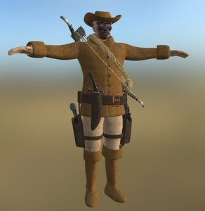 3D cowboy pbr