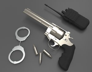 gun bullets handcuff walkie model