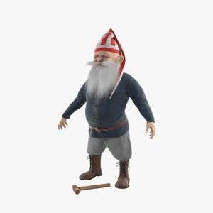 3D dwarf character male