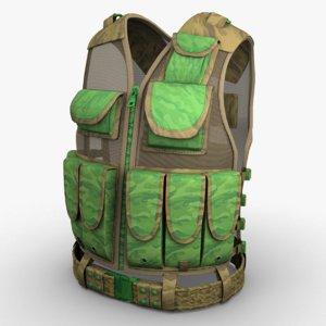 military vest model