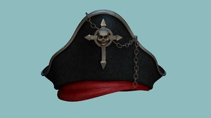 pirate hat - character 3D model