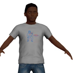 3D young boy character